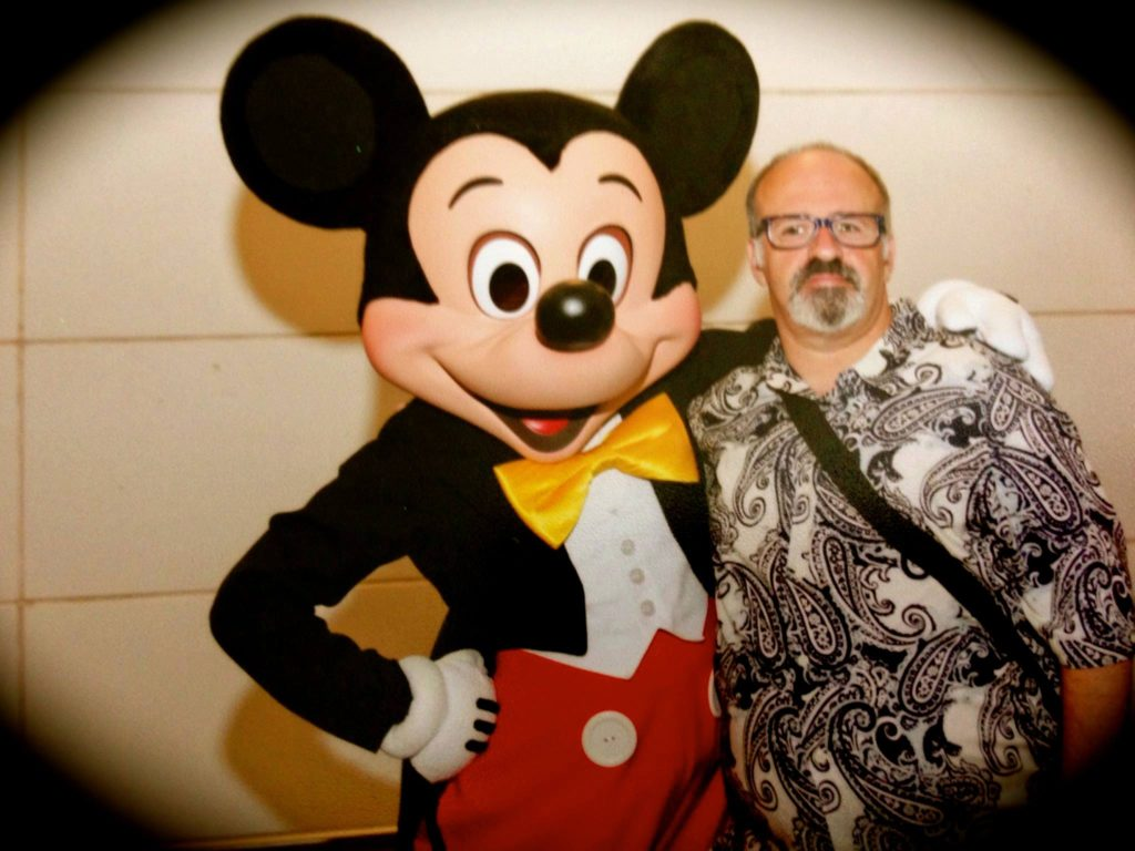 Tony Caselnova hanging with Mickey