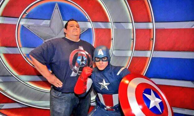 Big Bubba with Captain America