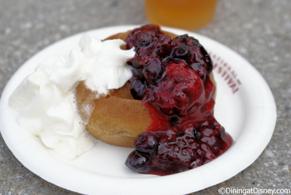 Belgium: Belgian Waffle with Berry Compote and Whipped Cream