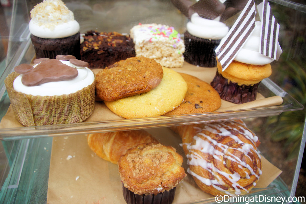 Sweet treat options at Kusafiri Coffee Shop & Bakery in Africa at Disney's Animal Kingdom