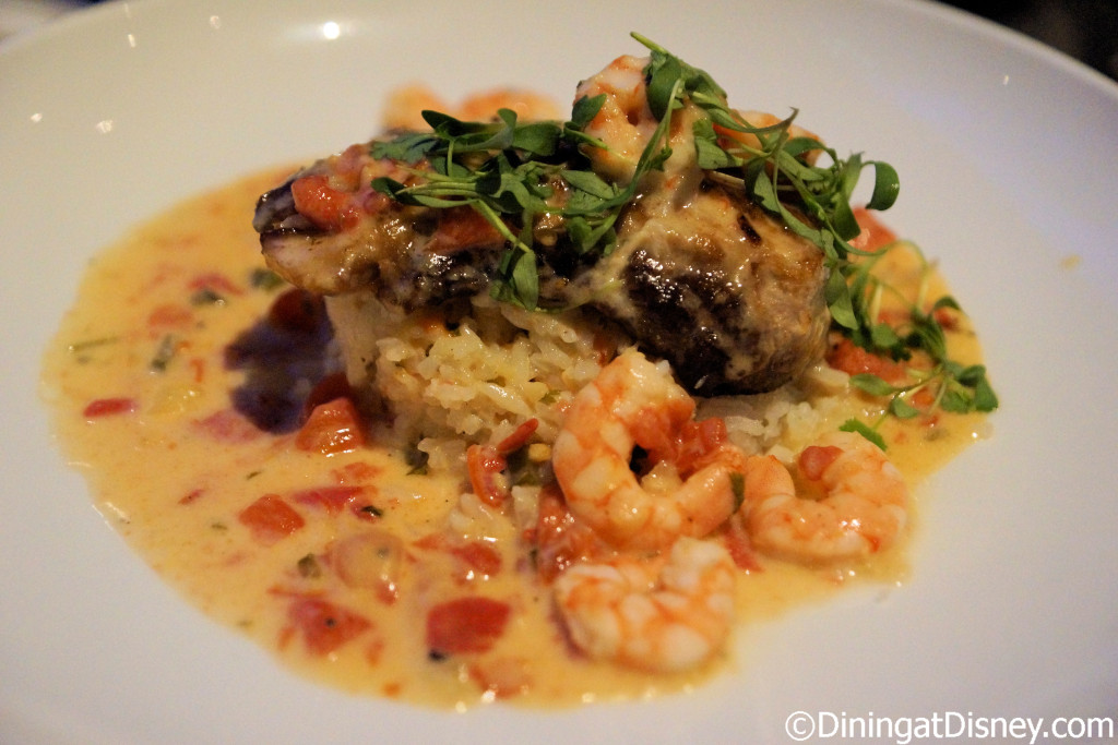 Mahi Mahi with shrimp at Coral Reef in Epcot