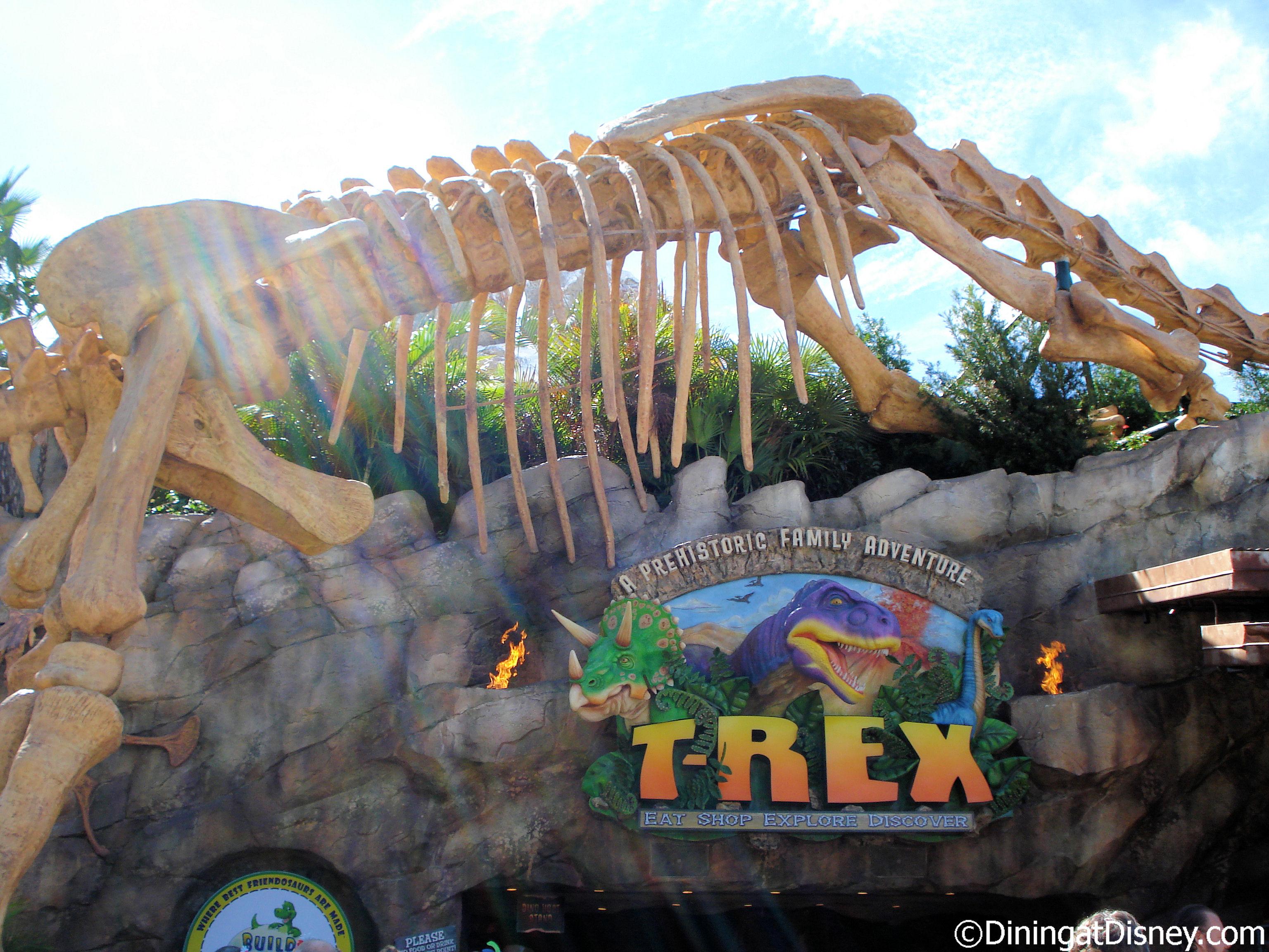 T rex cafe for Disney dining plan t rex