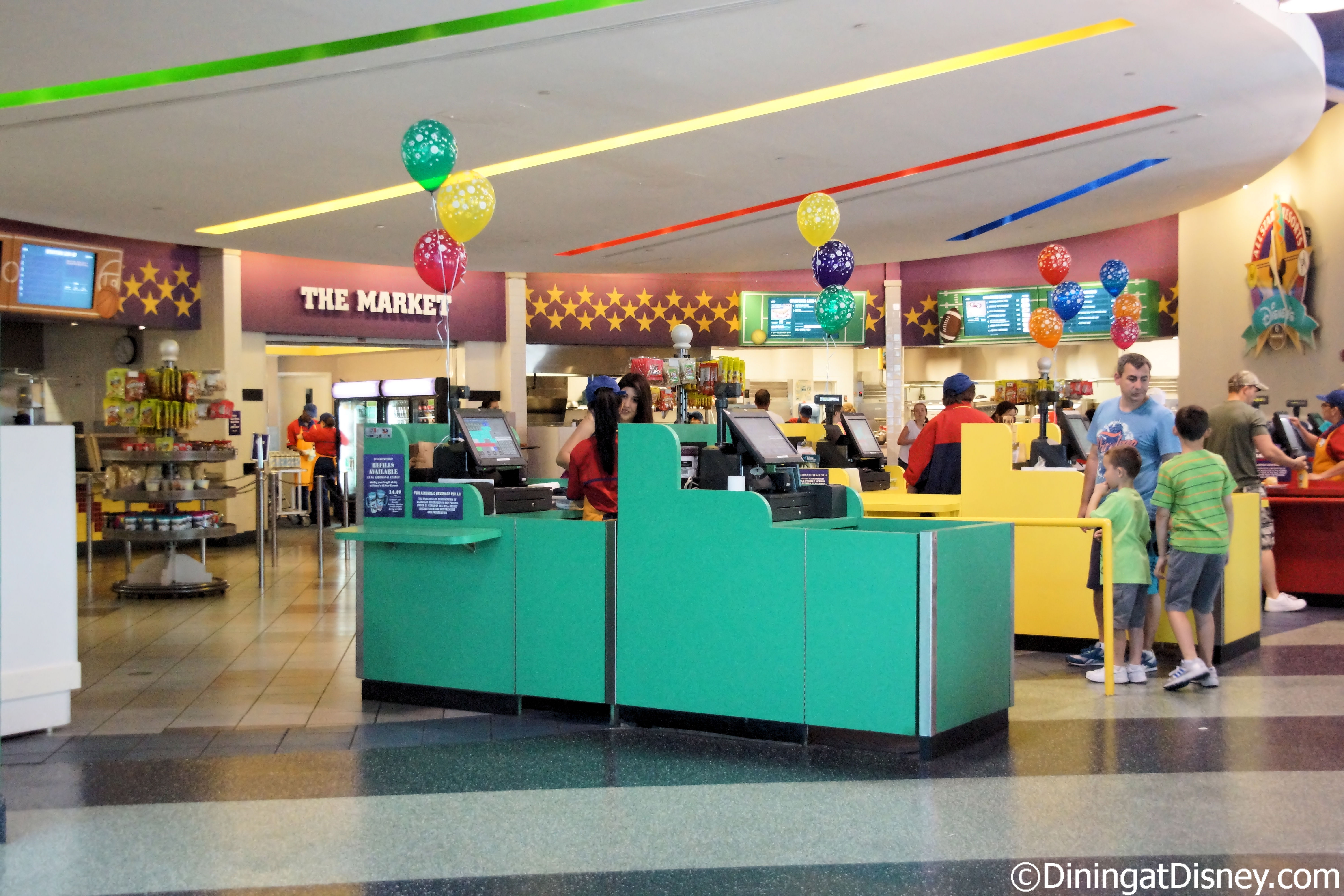 End Zone Food Court at All-Star Sports refurbishment -
