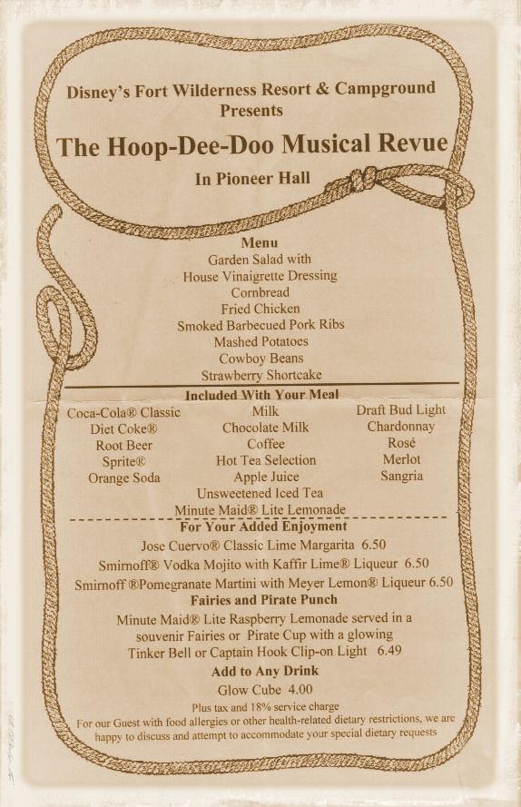 Hoop Dee Doo menu