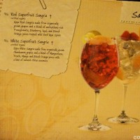 Disney drink menu - sangria