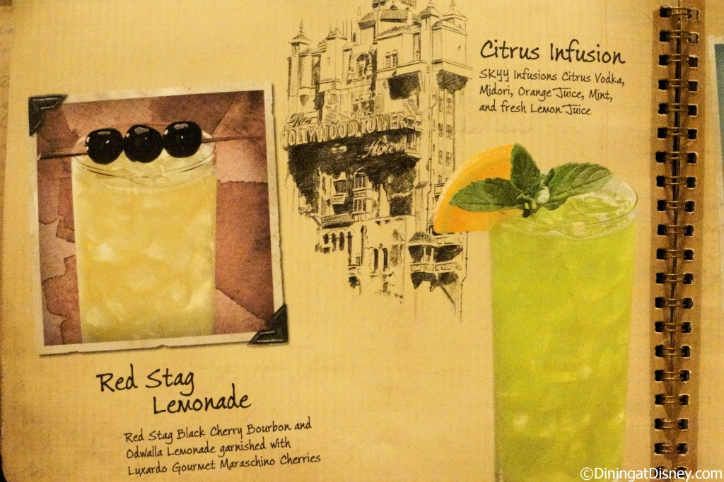 Disney drink menu - red stag lemonade and citrus infusion