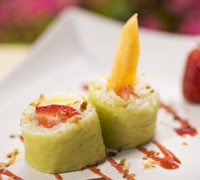 Fruit sushi from Hanami at Epcot Flower and Garden Festival