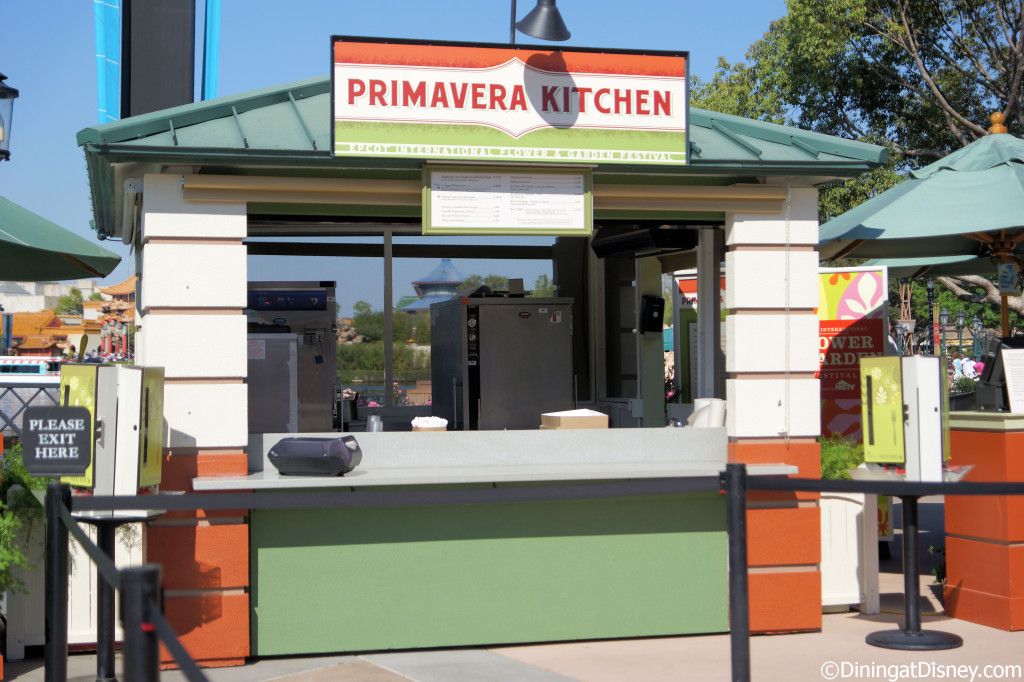 Primavera Kitchen at Epcot Flower and Garden Festival 2013