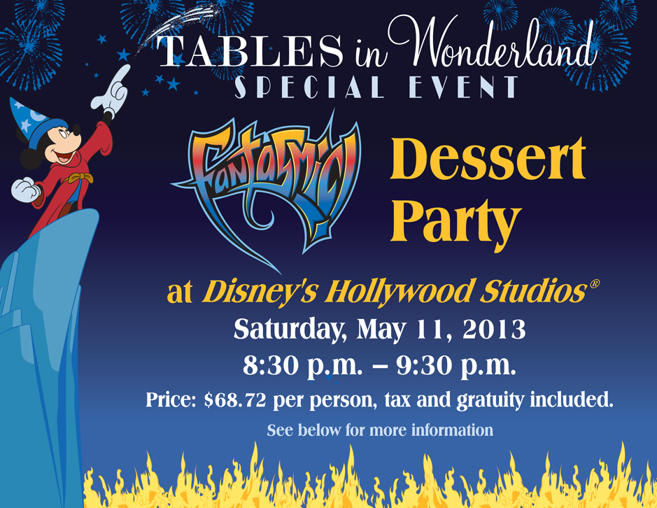 Good Tables In Wonderland Fantasmic! Dessert Party
