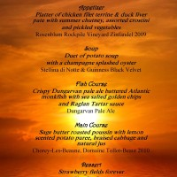 Menu for Summer Solstice Signature Dining
