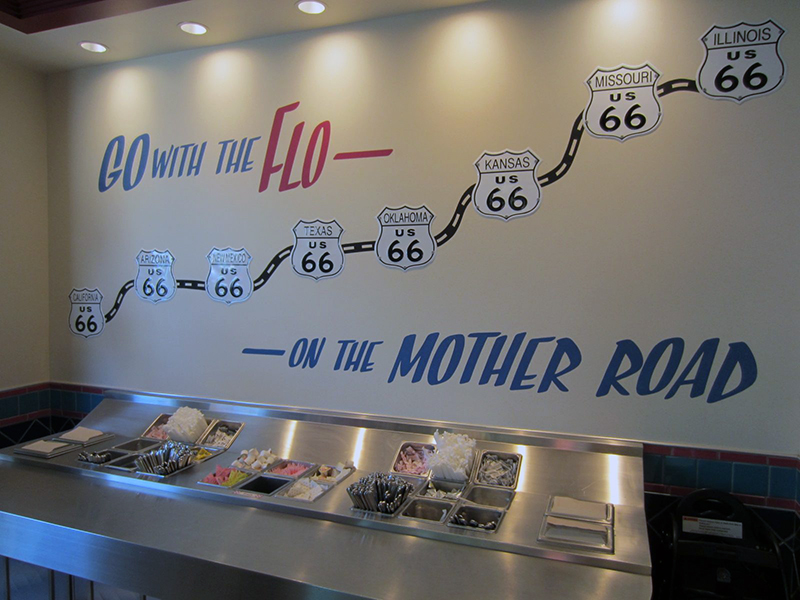 Real metal utensils!  Very cool tribute to Route 66 from the Cars movie