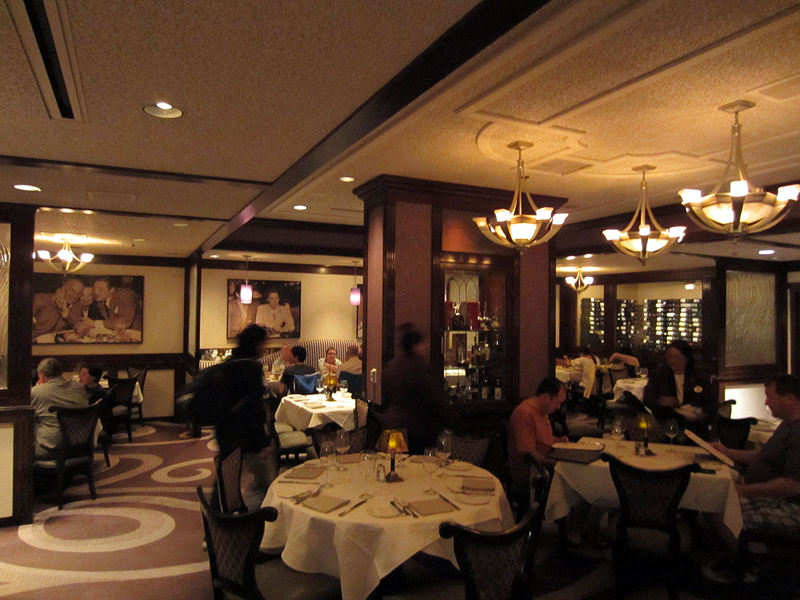 The interior of Steakhouse 55 harkens back to the 1940s