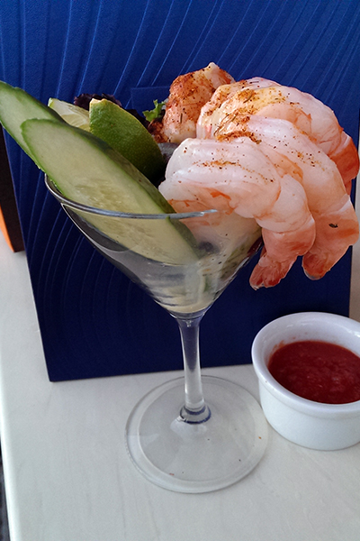 Citrus-marinated Shrimp Cocktail Martini
