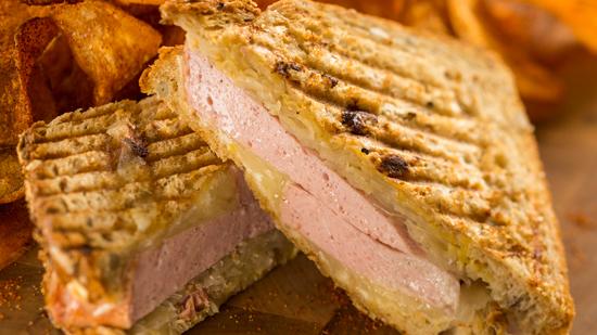 Leberkaese sandwich