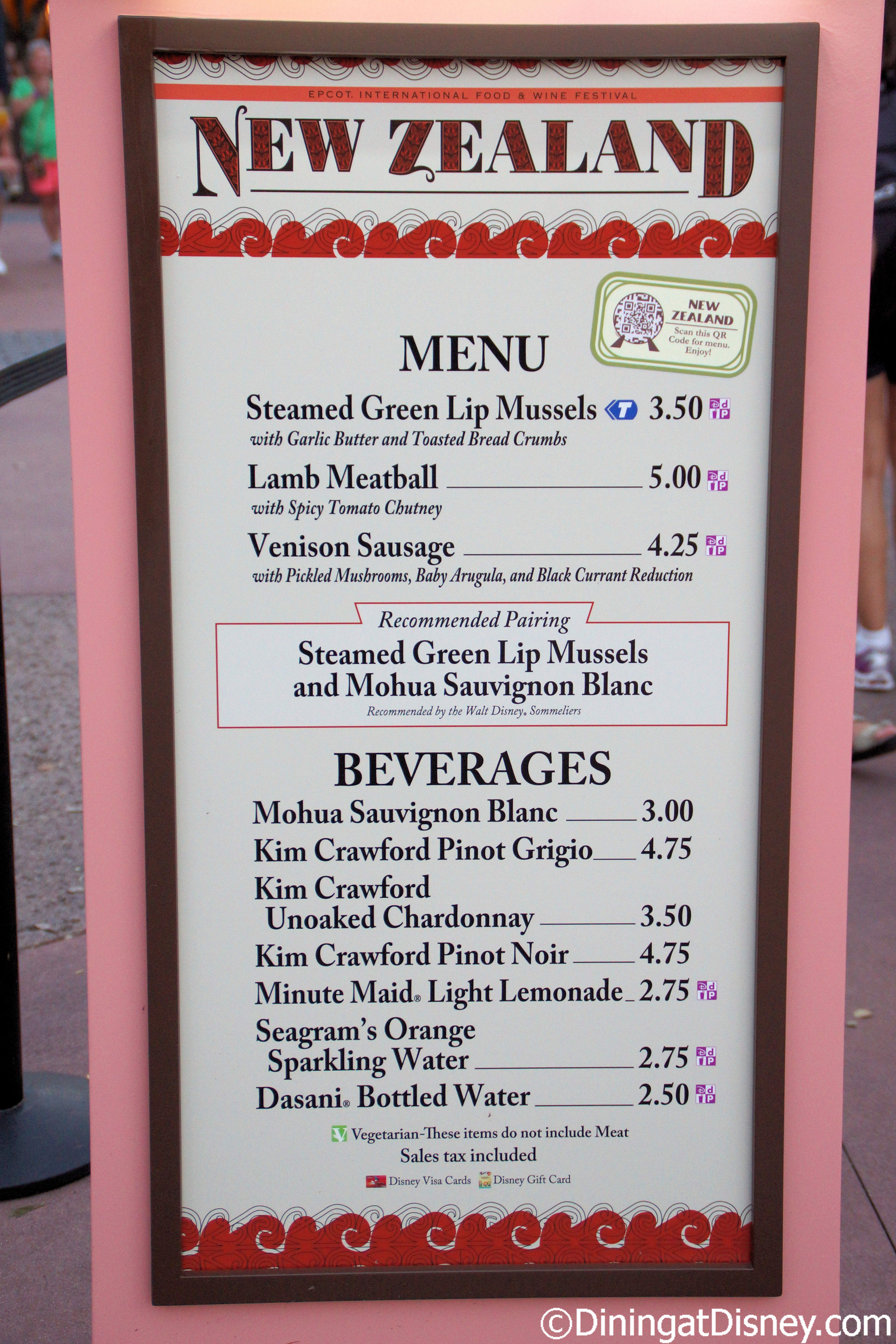 New Zealand Menu At 2013 Epcot Food And Wine Festival