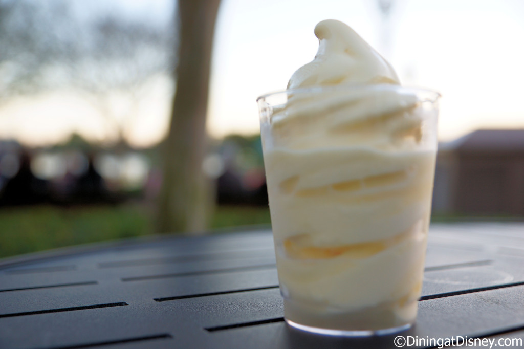 Pineapple Soft-serve with Parrot Bay Coconut Rumfrom Pineapple Promenade  at the 2014 Epcot Flower and Garden Festival