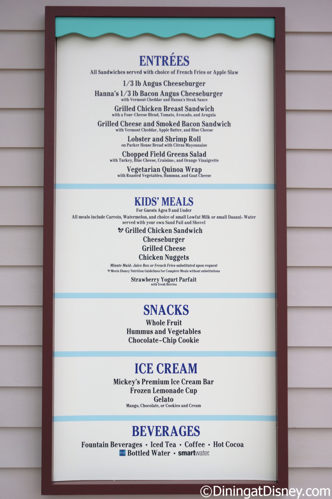 Hurricane Hannah's food menu DSC03787 d@d