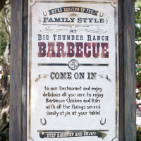 Big Thunder Ranch Barbecue welcome sign