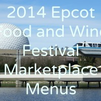 2014 Epcot Food and Wine Festival menu