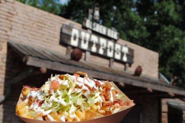 BLT waffle fries at Golden Oak Outpost