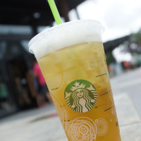 Green tea from Starbucks in Downtown Disney West Side