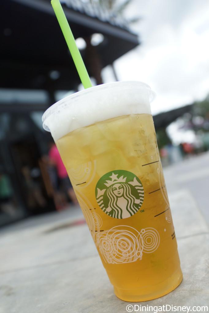 Green tea from Starbucks in Downtown Disney West Side