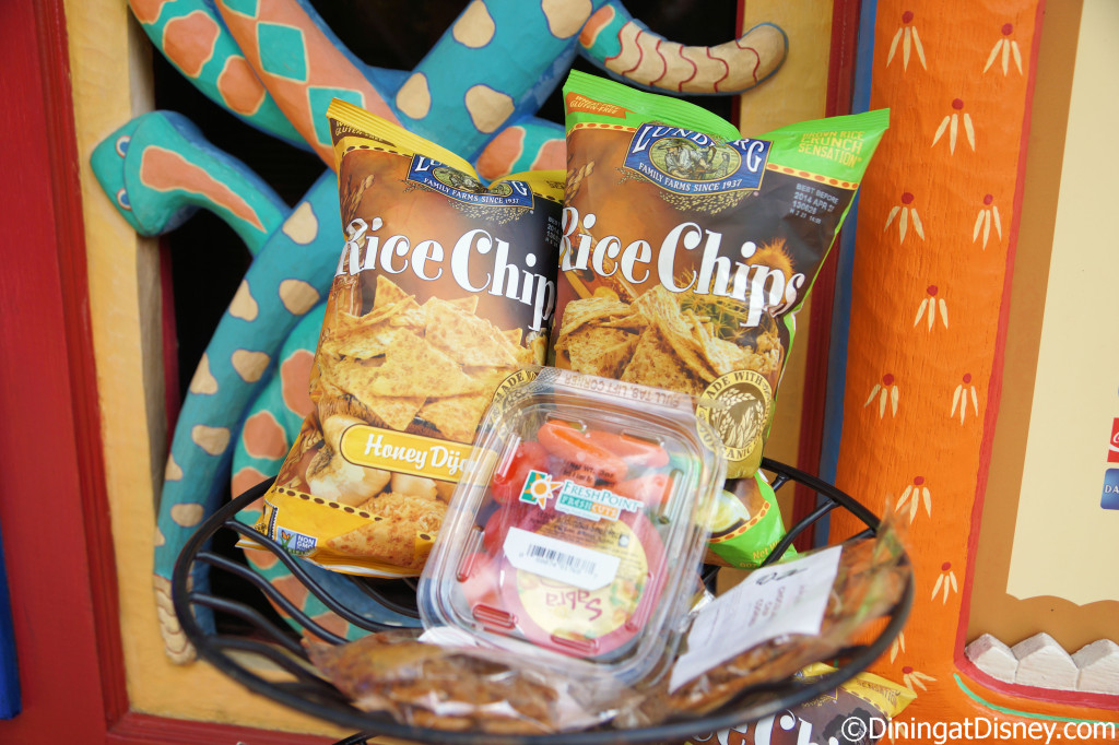 Rice chips at Allergy Dining Tips