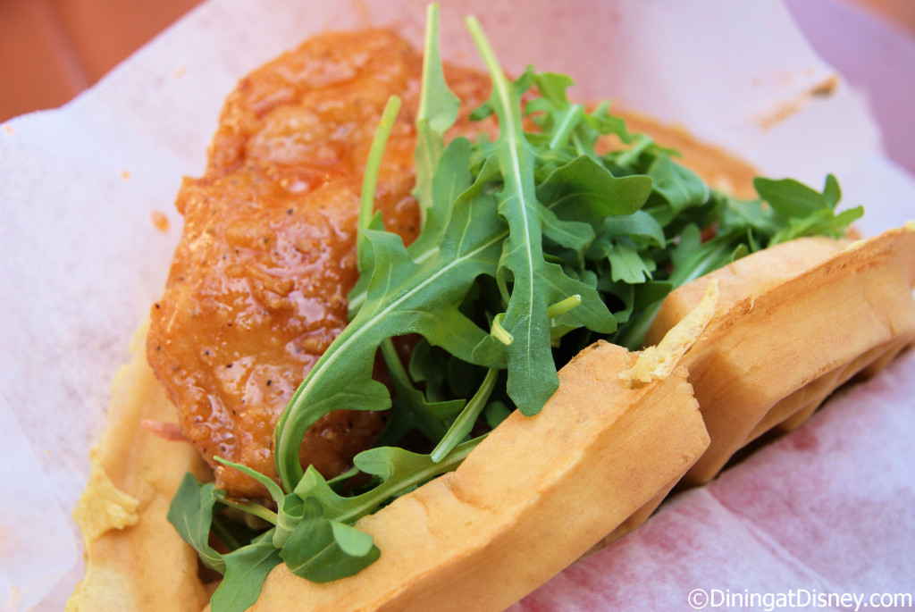 Sweet and spicy chicken waffle sandwich - Sleepy Hollow Refreshments
