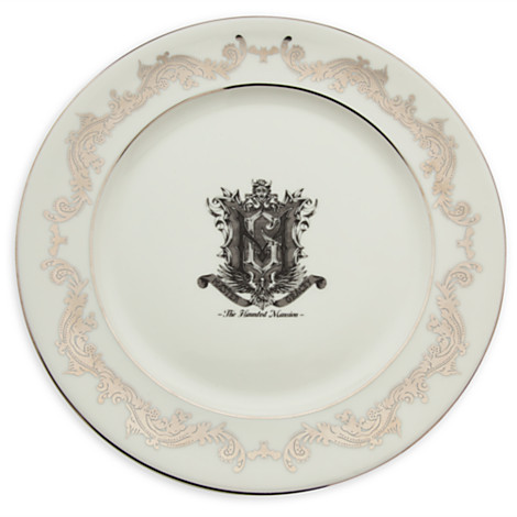 Haunted Mansion dinner plate  sc 1 st  Dining at Disney & New! Haunted Mansion dinnerware -