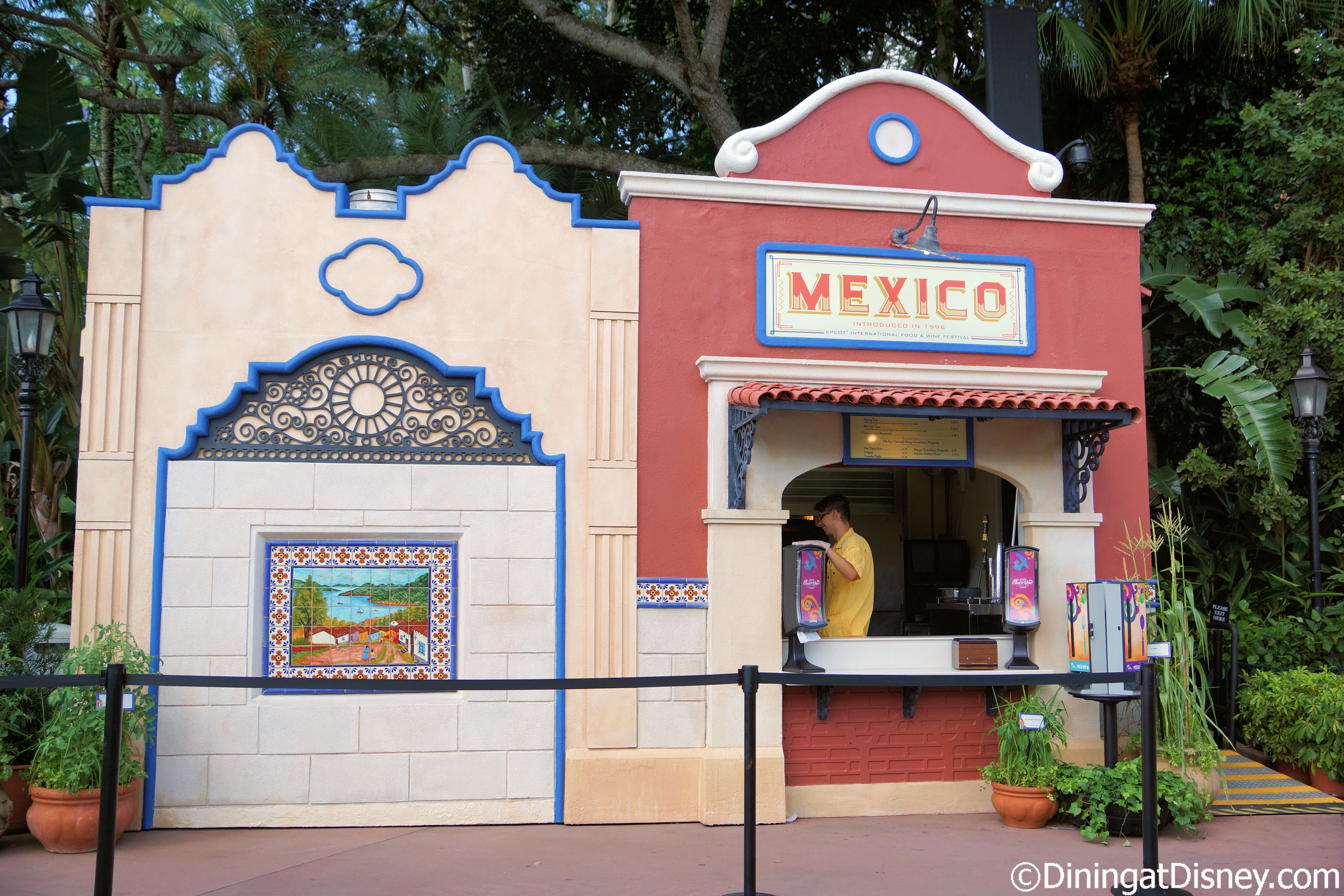 Lovely The Mexico booth at the 2014 Epcot Food and Wine Festival - NK01