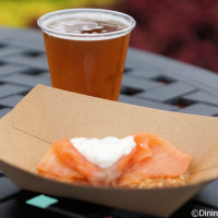 Potato pancake with smoked salmon - 2014 Epcot Food and Wine Festival - Scotland