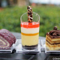 Dessert trio at Desserts and Champagne - 2014 Epcot Food and Wine Festival