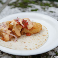 Shrimp Taco from Mexico 2014 Epcot Food and Wine Festival