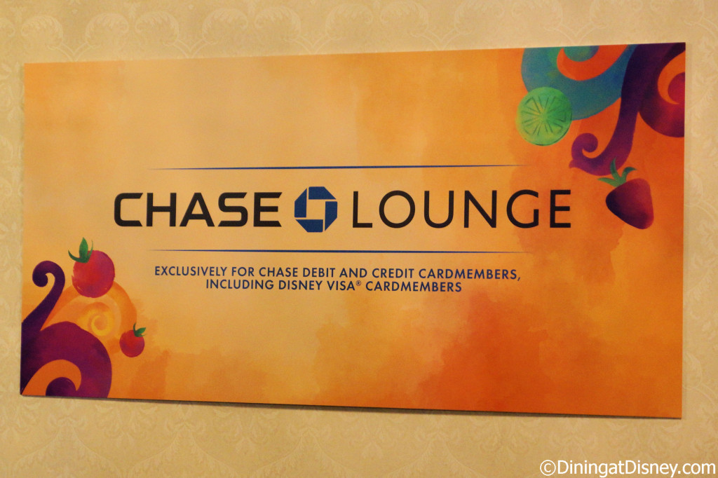 Chase Lounge at the 2014 Epcot Food and Wine Festival