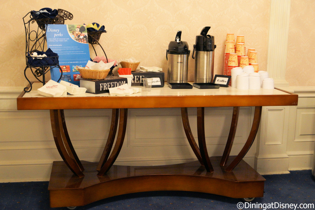 Chase Lounge coffee station at the 2014 Epcot Food and Wine Festival