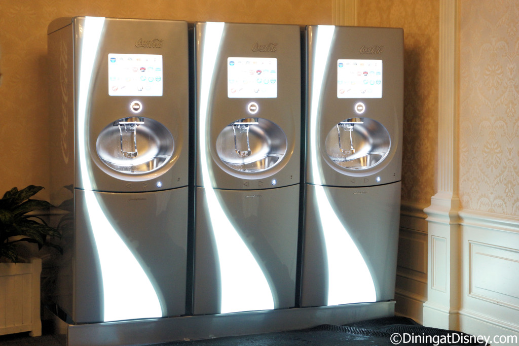 Coca-Cola machines in the Chase Lounge at the 2014 Epcot Food and Wine Festival