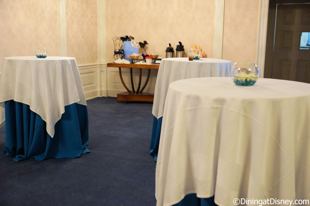 Tables for standing in the Chase Lounge at the 2014 Epcot Food and Wine Festival