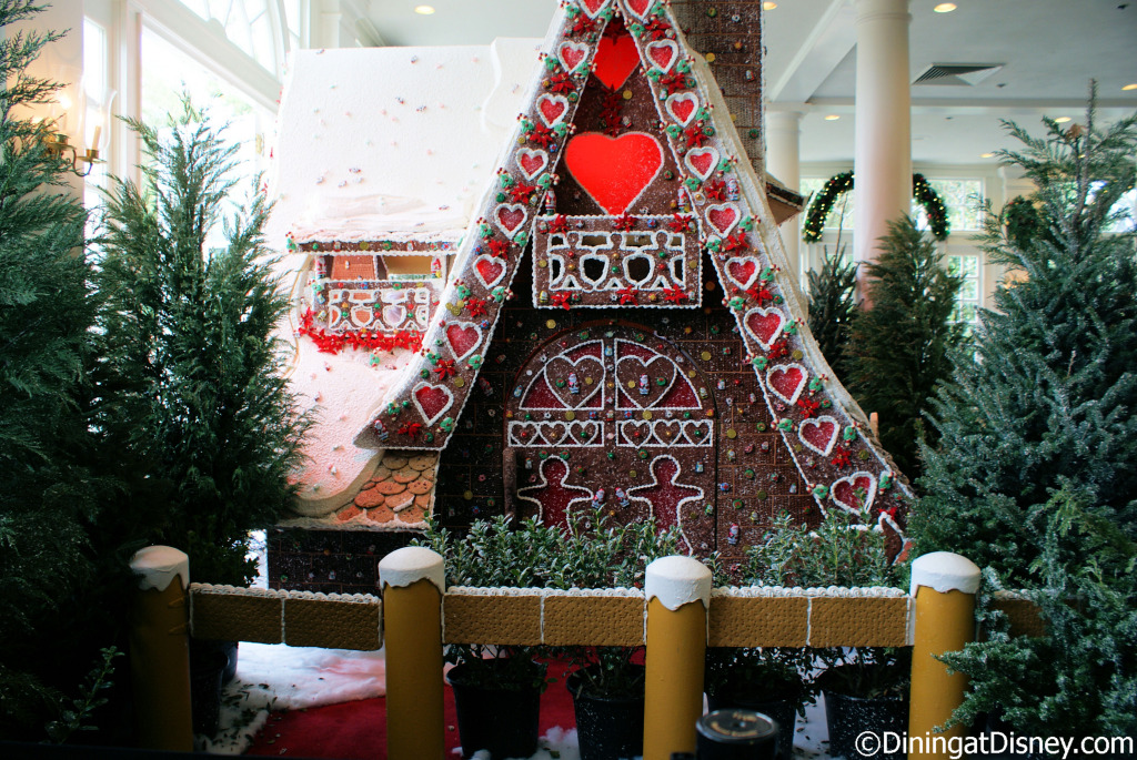 Gingerbread house in The American Adventure Pavilion