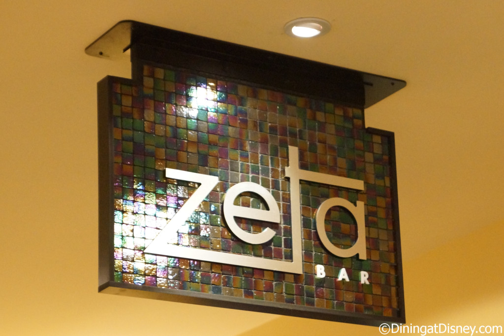Zeta Bar sign - Hilton Bonnet Creek