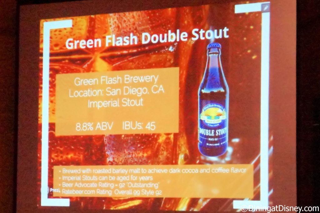 Green Flash Double Stout information - Beer, Please! - Swan and Dolphin Food and Wine Classic
