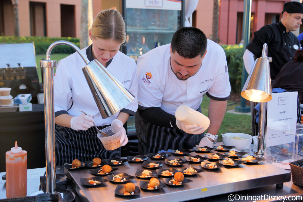 Il Mulino chefs making Arancini at Swan and Dolphin Food and Wine Classic merchandise