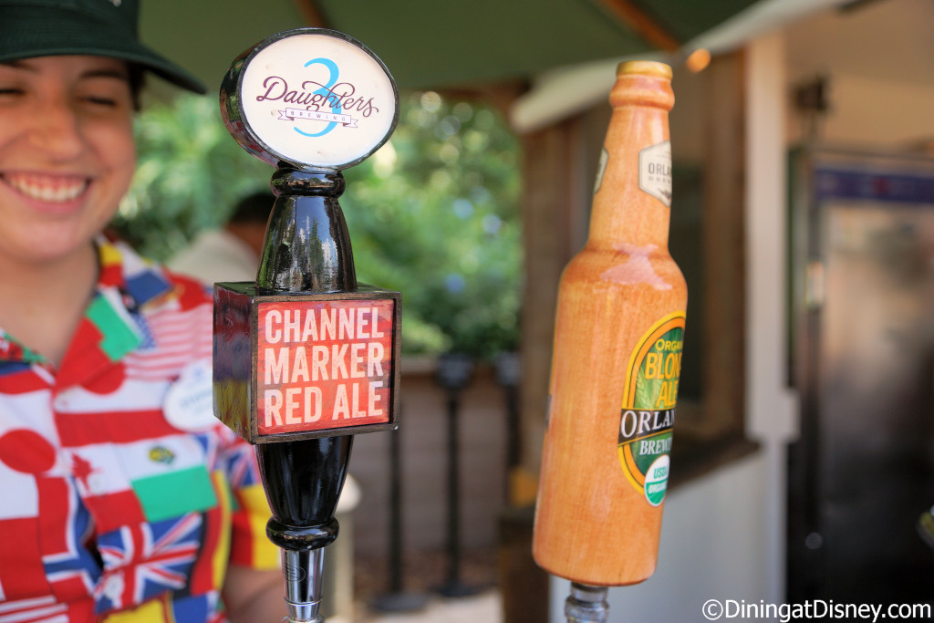 3 Daughters Brewing Channel Marker Red Ale and Orlando Brewing Organic Blonde Ale from Florida Fresh at the 2015 Epcot  Flower and Garden Festival
