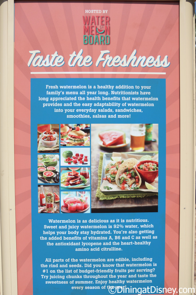 Watermelon information at the from Florida Fresh at the 2015 Epcot  Flower and Garden Festival