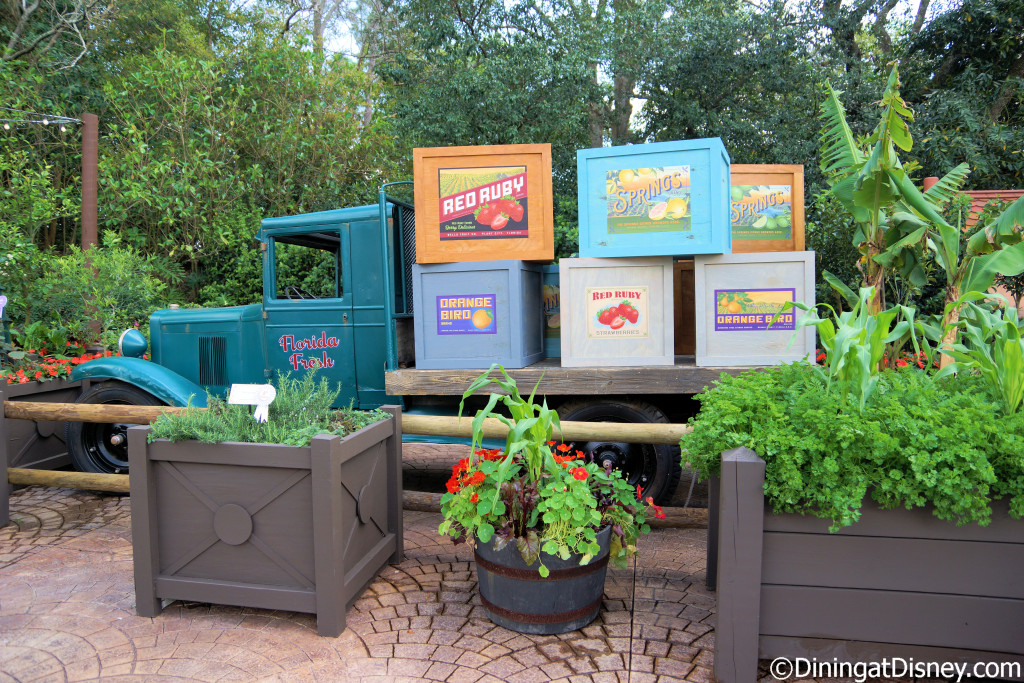 Florida Fresh display at the 2015 Epcot  Flower and Garden Festival