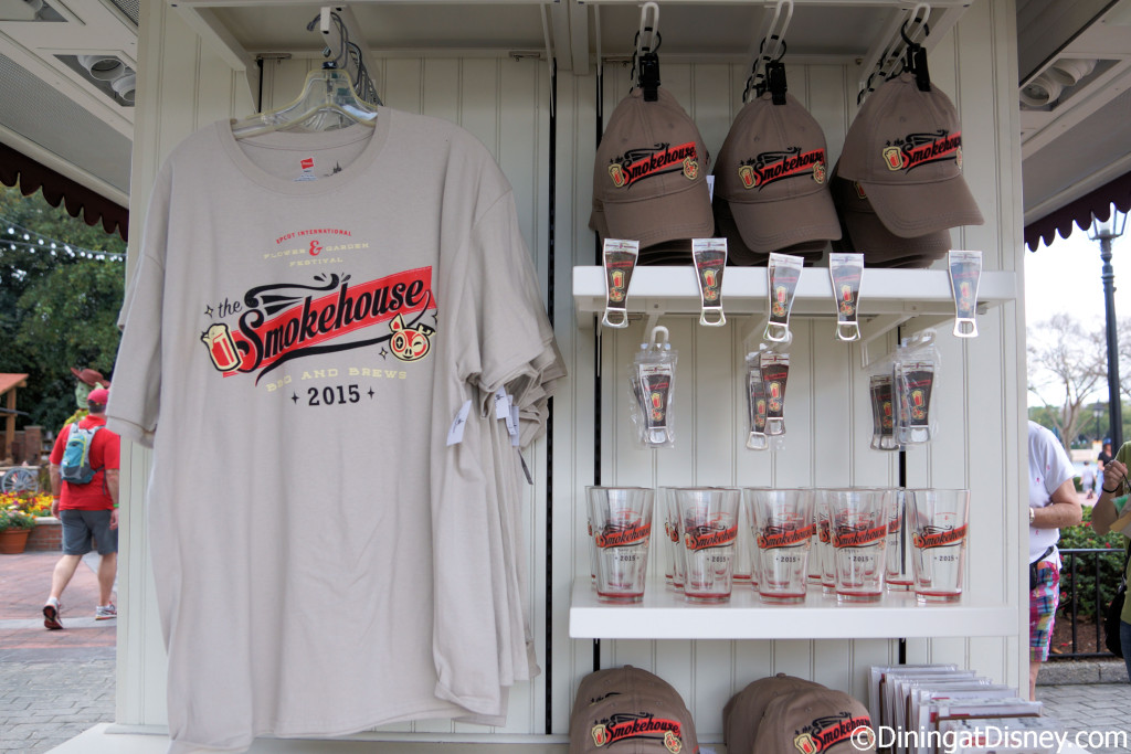 The Smokehouse: Barbecue and Brews merchandise at the 2015 Epcot  Flower and Garden Festival