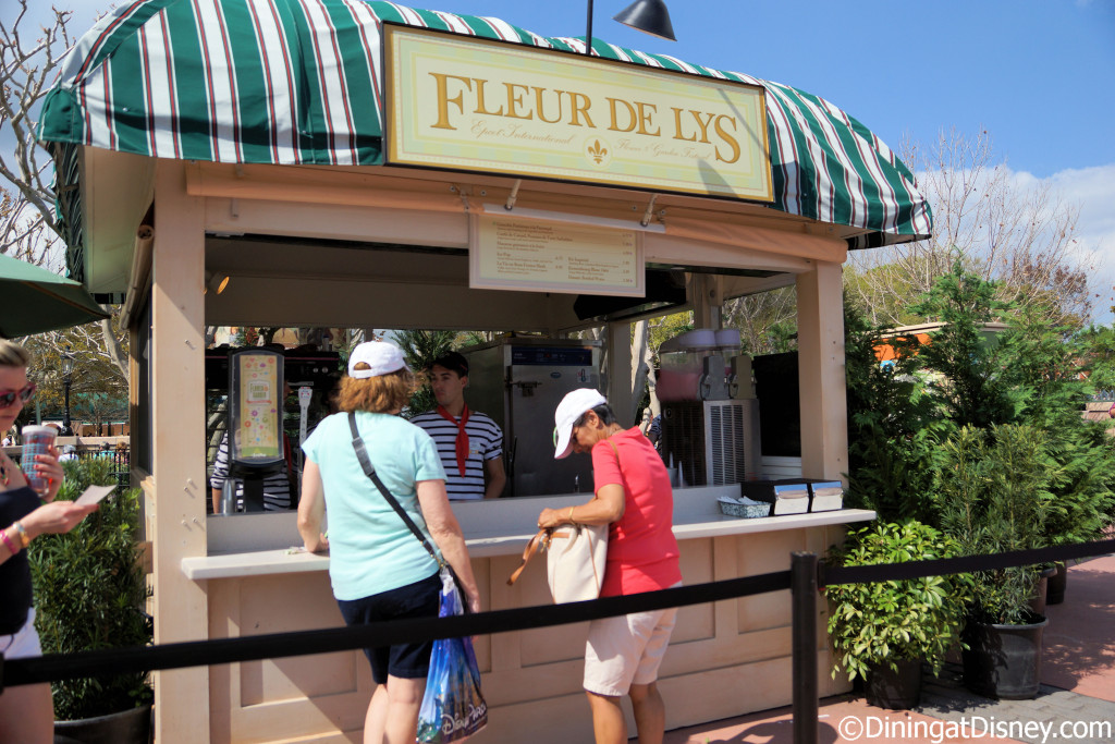 The Fleur de Lys Outdoor Kitchen at the 2015 Epcot  Flower and Garden Festival