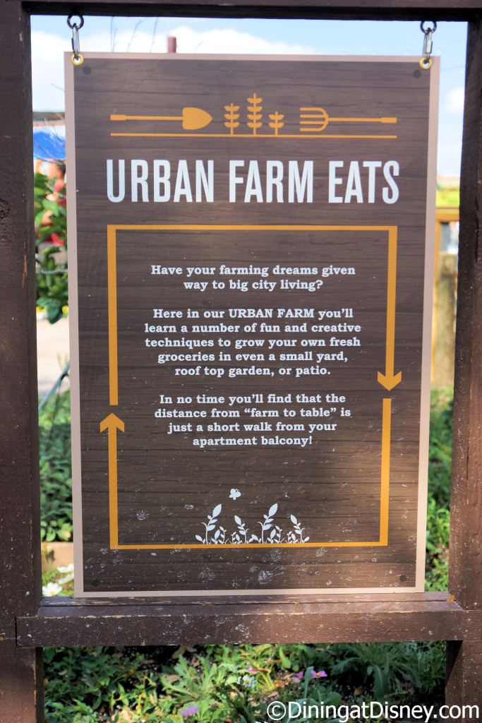About Urban Farm Eats at the 2015 Epcot  Flower and Garden Festival