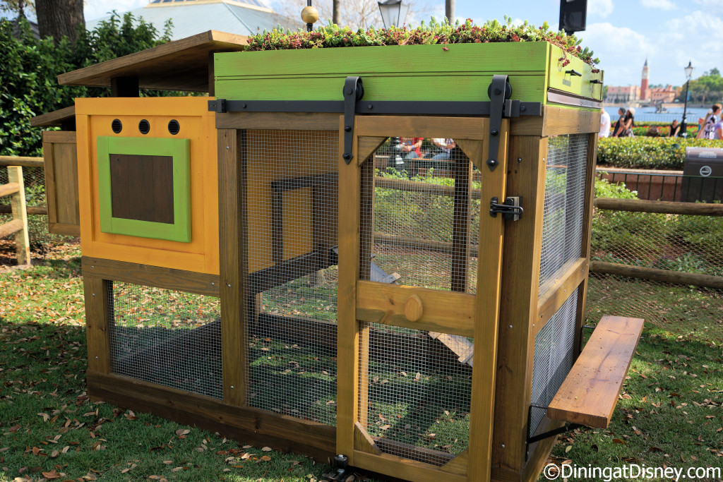 A chicken coop located inside Urban Farm Eats at the 2015 Epcot  Flower and Garden Festival