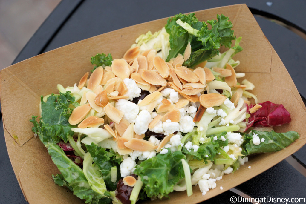 Kale Salad with dried cherries, almonds and goat cheese with White Balsamic Vinaigrette from Urban Farm Eats at the 2015 Epcot  Flower and Garden Festival