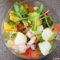 Seafood Ceviche – Shrimp, scallops and grouper with mango and avocado from Botanas Botánico at the 2015 Epcot Flower and Garden Festival